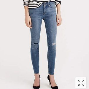 2/$25 J. Crew Toothpick Distressed Jeans Patch 28